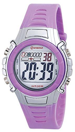 8Years- 1 Stueck Violett Kinder Laessig Digitaluhr Armbanduhr Sportuhr Stoppuhr Wasserdicht