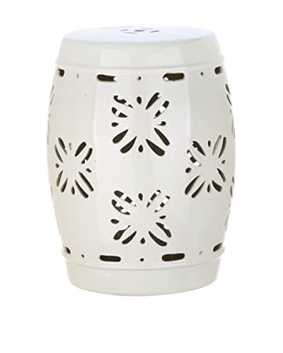 Safavieh Sakura Garden Stool, Cream