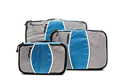 Packing Cubes -Travel Packing Luggage Accessories - Set of 3 Carry On Organisers - **FREE** Travel Checklist and **FREE** Secret Air Travel Top Tips