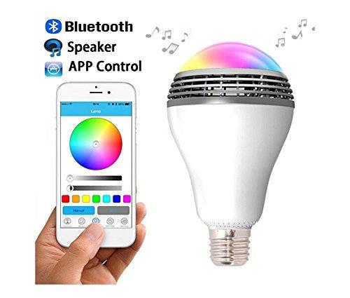 led gl hbirne mit bluetooth 4 0 lautsprecher smart app steuerung dimmbar farbwecksel licht und. Black Bedroom Furniture Sets. Home Design Ideas