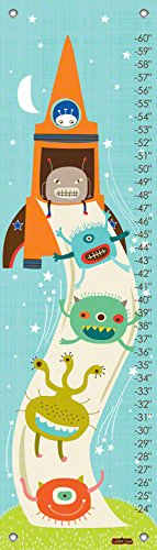 Oopsy Daisy Alien Invasion by Carolyn Gavin Growth Charts, 12 by 42-Inch