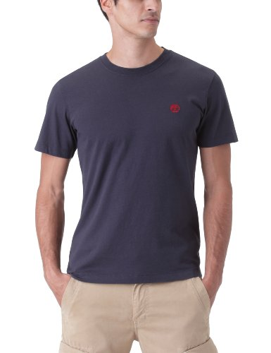 Timberland Short Sleeve Back Logo Men's T-Shirt Dark Navy Small