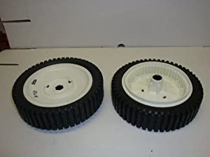 Set of 2, Replacement Front Drive Wheels, Craftsman, Poulan, Husqvarna; 180767, 180775, 700953, 701575, 150340, And More from Oregon