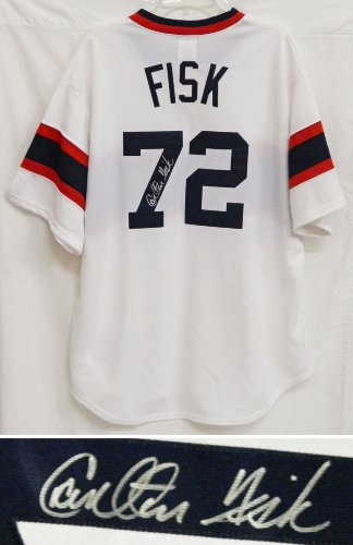 Carlton Fisk Signed Chicago White Sox Throwback Cooperstown Collection Jersey Amazon.com
