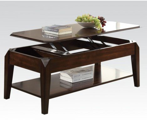 Walnut Coffee Table with Lift Tray by Acme Furniture
