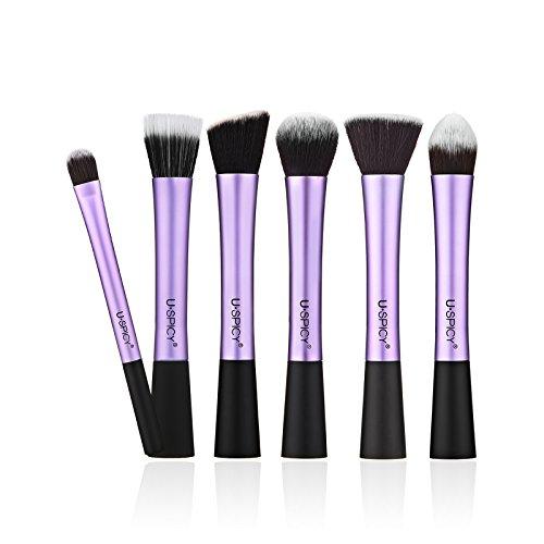 uspicy kit de 6 pinceaux maquillage professionnel avec. Black Bedroom Furniture Sets. Home Design Ideas