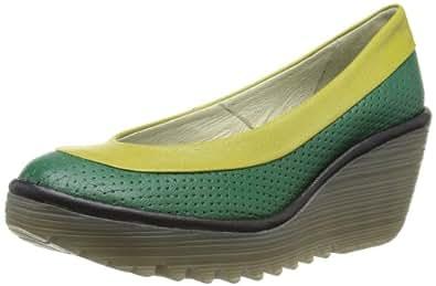 Fly London Yoko Perf., Chaussures de ville - Femme - Vert - Green/Pistachio/Black - 38 EU, 5 UK