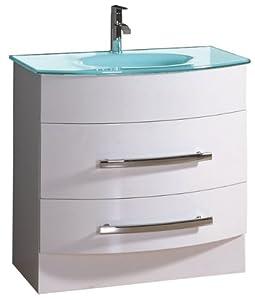 Luxo Marbre Mirabel 3221 W Mirabel Vanity With Tempered Glass Sink White Bathroom Vanities