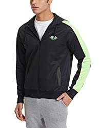 Lotto Men's Jacket (8903264311177_F1510402 Small Black and Green)