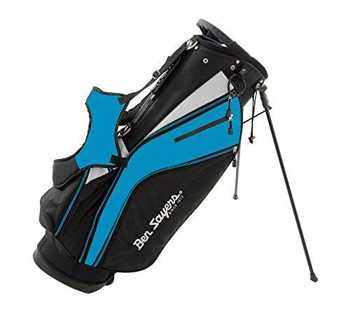 Ben Sayers X-Lite-Sacca Per Mazze Da Golf Leggera Con 6 Scomparti, Colore Nero/Blu