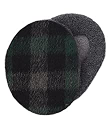 Sprigs Earbags with Thinsulate, black & green plaid, m
