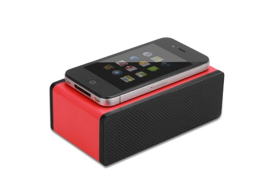 X-Flowtm Portable Near Field Mini Wireless Magic Speaker Speakers Induction Amplifier Speakers For Iphone 5 4S Htc Samsung And All Other Phones & Digital Media Device (Red)