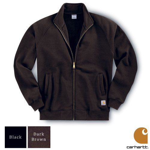 Carhartt Midweight Mock Neck Zip Front Mens Sweatshirt Dark Brown XX-Large