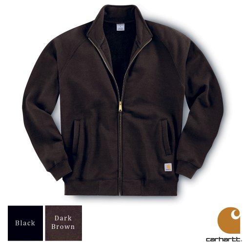 Carhartt Midweight Mock Neck Zip Front Mens Sweatshirt Dark Brown X-Large