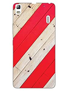 Red Wood - Pattern - Hard Back Case Cover for Lenovo K3 Note - Superior Matte Finish - HD Printed Cases and Covers