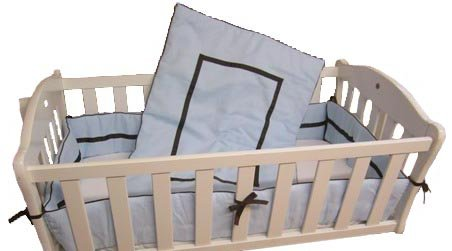 Baby Doll Bedding Hotel Style Port-A-Crib Bedding Set, Blue