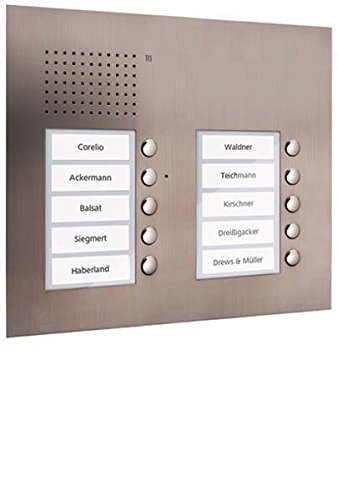TCS Tür Control Audio Außenstation PUK 10 PUK10/2-ES Tasten 2-spaltig UP Türlautsprecher 4035138012850
