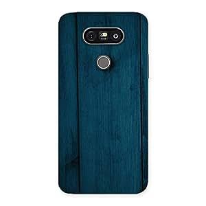 Ajay Enterprises Blue Royal Wood Back Case Cover for LG G5
