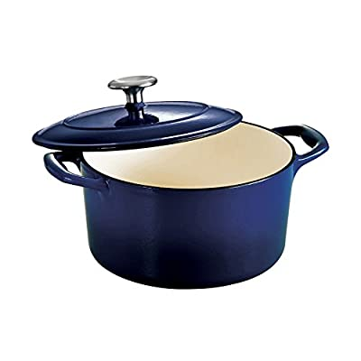 Tramontina Gourmet Enameled Cast Iron Covered Round Dutch Oven - Gradated Cobalt