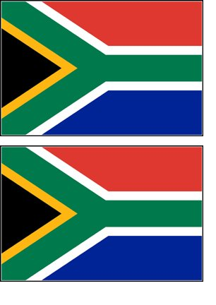 2 South Africa African Flag Stickers Decal Bumper Window Laptop Phone Auto Boat Wall