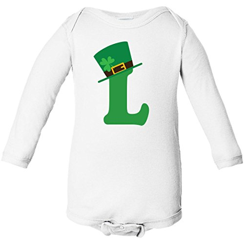Inktastic L Irish Letter Hat Long Sleeve Creepers Newborn White front-658784