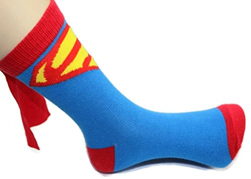 Rush Dance Unisex Kids Children's Super Hero Knee High Socks with Cape
