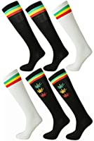 Ladies Cute Colorful Design Knee High Socks Assorted 6-Pack