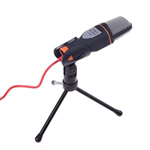 Docooler Mic Wired Condenser Microphone with Holder Clip for Chatting
