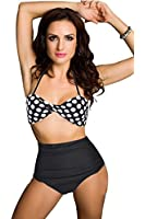 Retro Cutest Swimsuit Swimwear Vintage Pin up High Waist Bikini Set