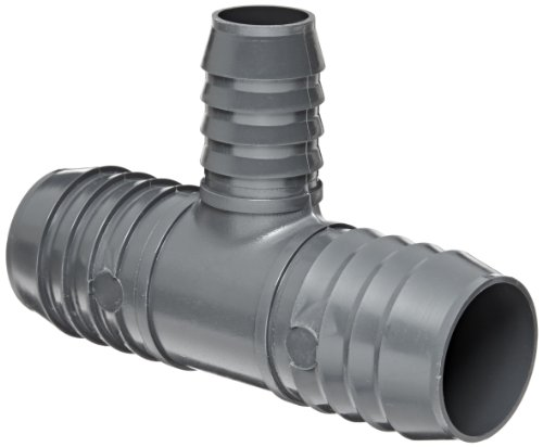 "Spears 1401 Series Pvc Tube Fitting, Tee, Schedule 40, Gray, 1/2"" Barbed"