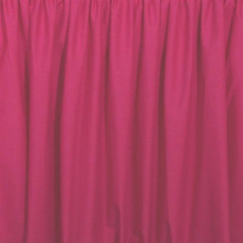 Easyon Gathered Full Size Dust Ruffle 15 Inch Drop Hot Pink front-565481