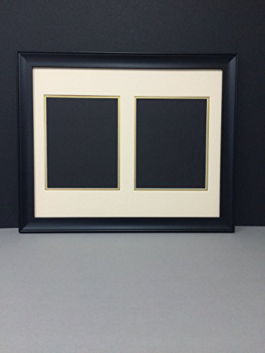 16 215 20 Black Frame With Light Tan And Gold Double Picture