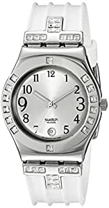 swatch Women's YLS430 Quartz Silver Dial Stainless Steel Watch