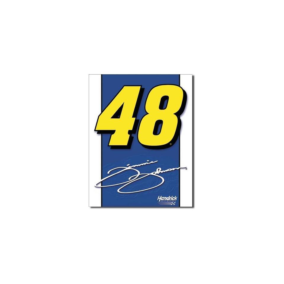 jimmie johnson 48 logo tin sign 125w x 16h home