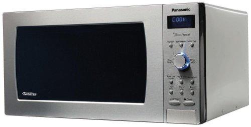 "Panasonic NN-SD797S Genius ""Prestige"" 1.6 cuft 1250-Watt Sensor Microwave with Inverter Technology & Blue Readout, Stainless Steel"