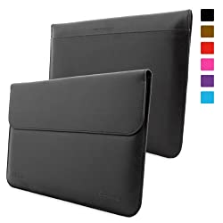 Snugg Microsoft Surface 1 and 2 Leather Wallet Case for RT and Pro (Black)