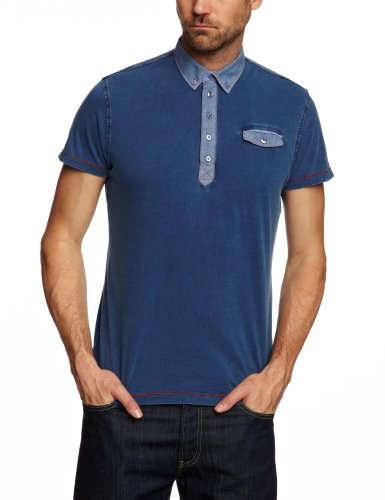 GUIDE LONDON SJ.3820 Polo Shirt Men's Top Indigo Large