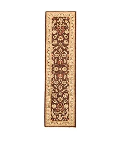 Design By Gemeenschap Loomier tapijt Ozbeki Ziegler Een bruin / beige 80 x 303 cm