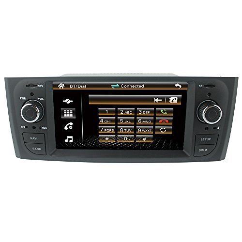 LIKECAR-61-Zoll-Autoradio-Car-DVD-GPS-Navigation-Headrest-Monitor-fr-Fiat-Grande-Punto-linea-alten-zentralen-Multimedia-mit-bluetooth-rds-ipod-Funktion-3g-usb-host-canbus-audio-Microphone-Remote-contr
