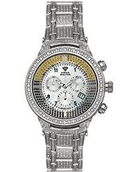 Special Price Aqua Master Men's Power Canary Diamond Watch with Diamond Bezel and 6-Link Diamond Bracelet, 6.70 ctw Deals