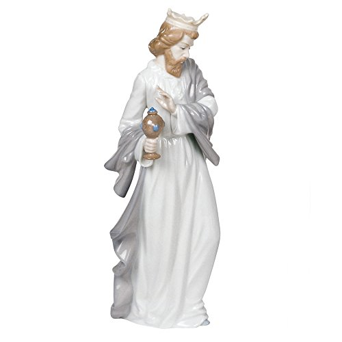 """Nao by Lladro Collectible Porcelain Figurine: KING GASPAR WITH CUP - 11-1/2"""" tall - Nativity"""