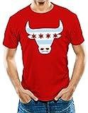 Universal Apparel Men's Chicago Flag Bull T-Shirt