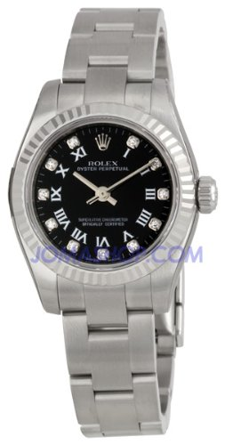 Rolex Oyster Perpetual No-Date Diamond Ladies Watch 176234-BKRDO