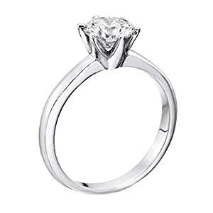 GIA Certified 14k white-gold Round Cut Diamond Engagement Ring (1.58 cttw, G Color, SI2 Clarity)