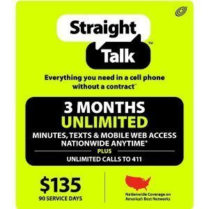 Straight Talk $135 Refill Prepaid Top-up Phone Card