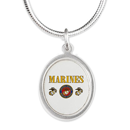 Silver Oval Necklace Marines Us Marine Corps Seal