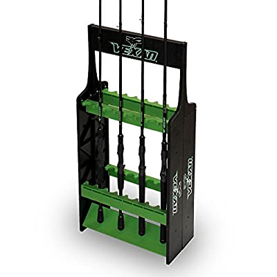 Vexan Super 16 Fishing Rod Rack - Perfect for Bass, Walleye, Crappie, Musky, Northern Pike, Perch Rods from Tackle Industries