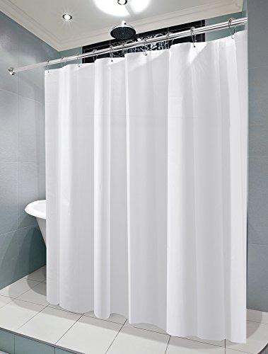 mDesign PEVA 3G Shower Curtain Liner (PACK of 2), PVC-FREE, MOLD ...