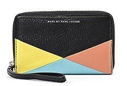 Marc by Marc Jacobs Sophisticato Hvac Wingman Wallet,Black Multi