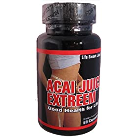 ACAI Juice Extreem - HIGH POTENCY ACAI BERRY Natural Nutrition, Energy, for Weight Loss Detox Diet 60 Caps, 1200 Mg